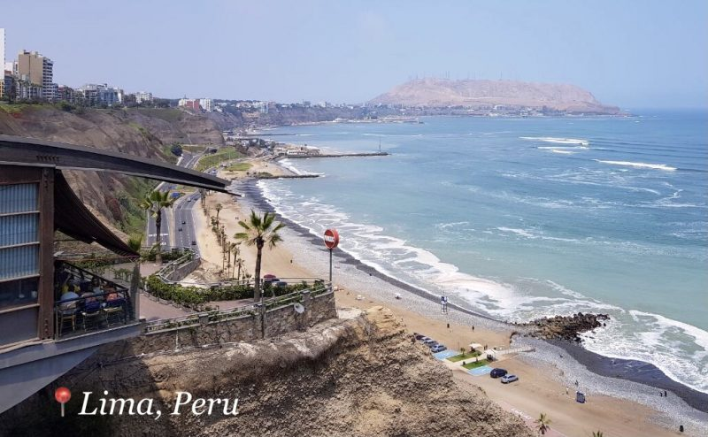 View of the Pacific Ocean from Lima - Peru