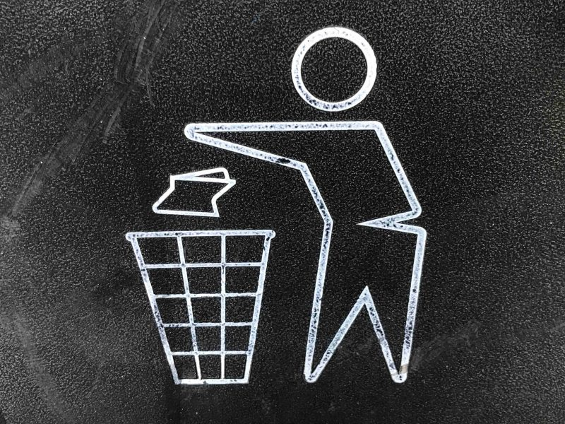 Recycling person icon