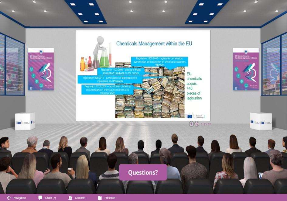 Lecture on Chemicals Management at the JRC digital platform