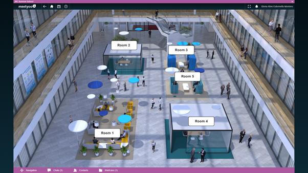 World Caffe rooms at the virtual JRC platform